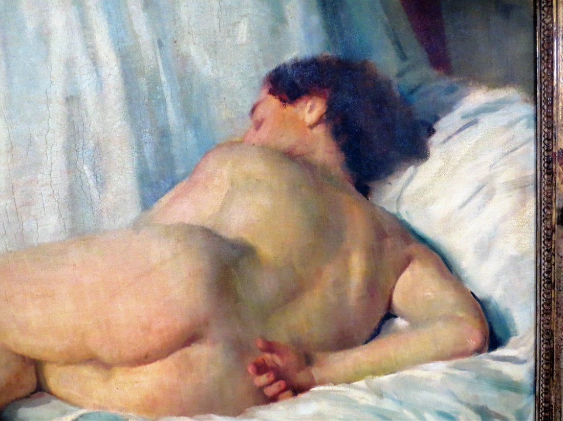 "Geza Kende Oil Painting On Canvas ""Siesta"" - 6"
