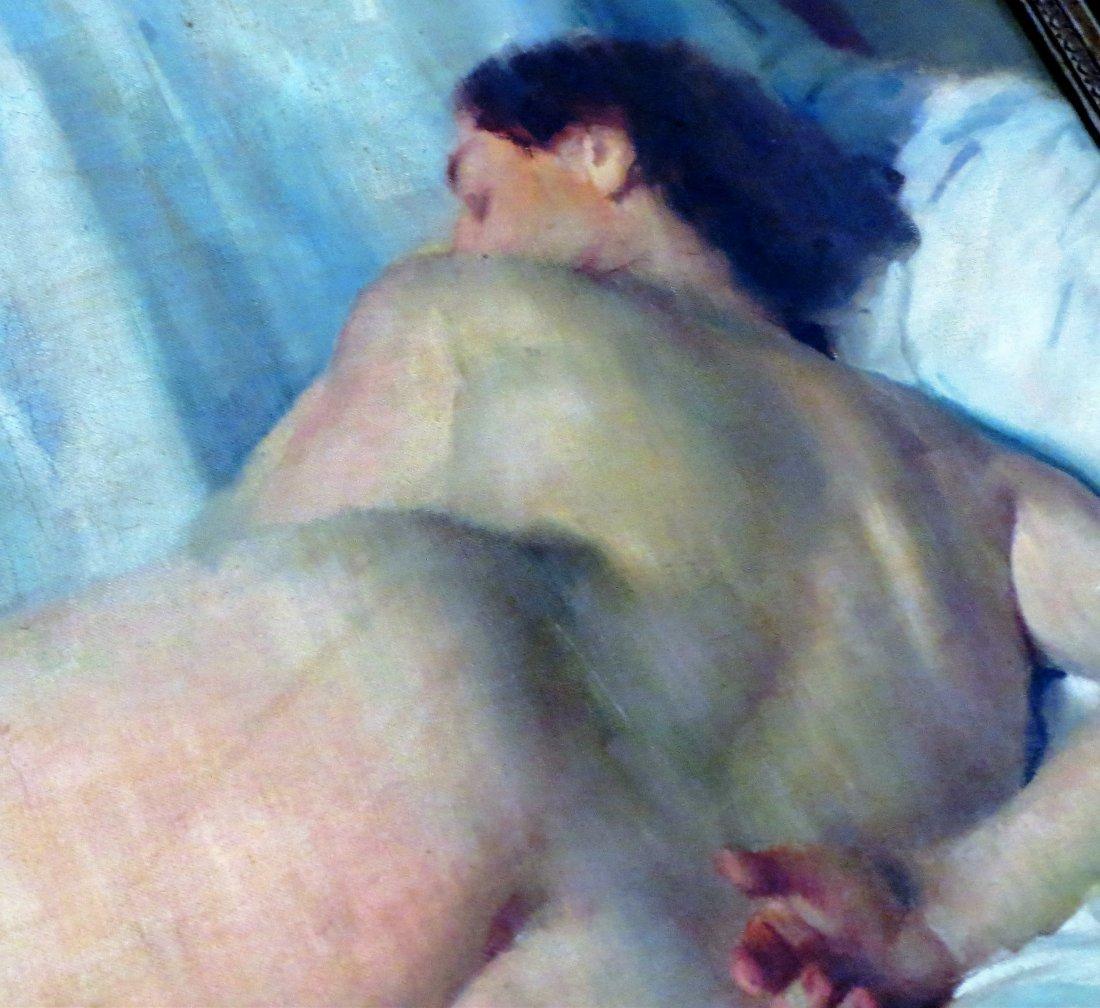 "Geza Kende Oil Painting On Canvas ""Siesta"" - 7"
