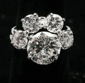 6ct Diamonds and 14k Gold Wedding Ring Set