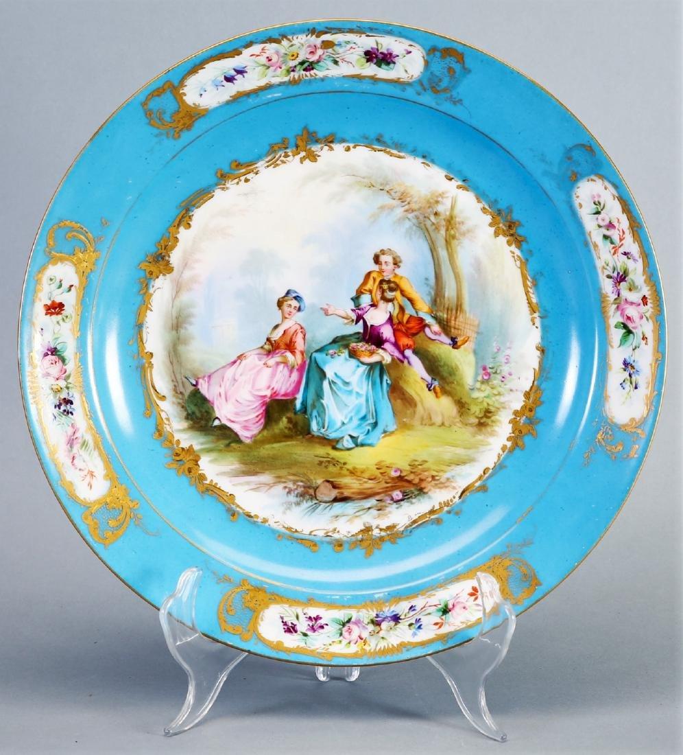 1782 Sevres Porcelain Hand Painted Plates - 3