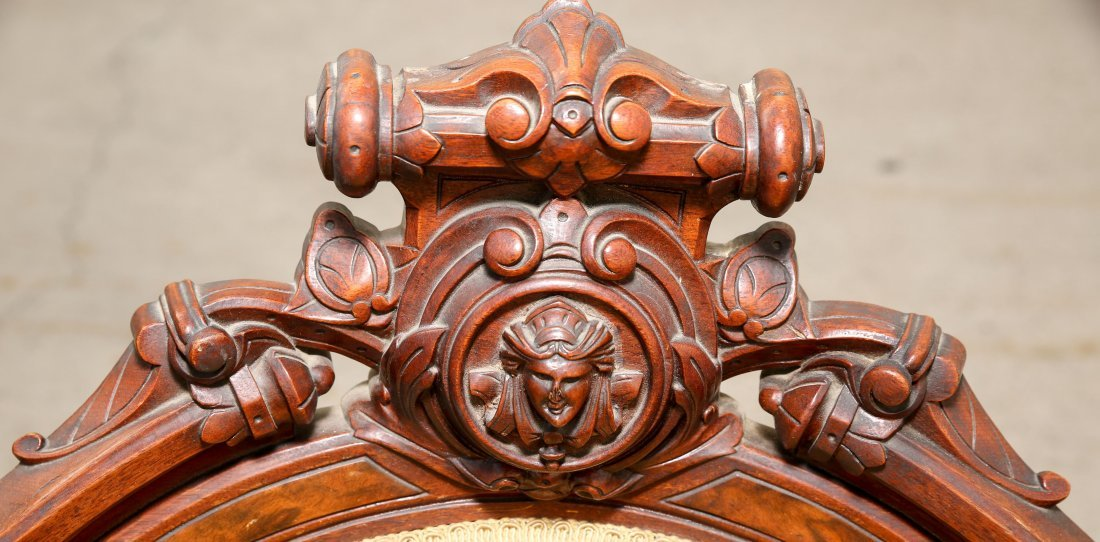 Pair of 1880's American Renaissance Revival Carved Wood - 2