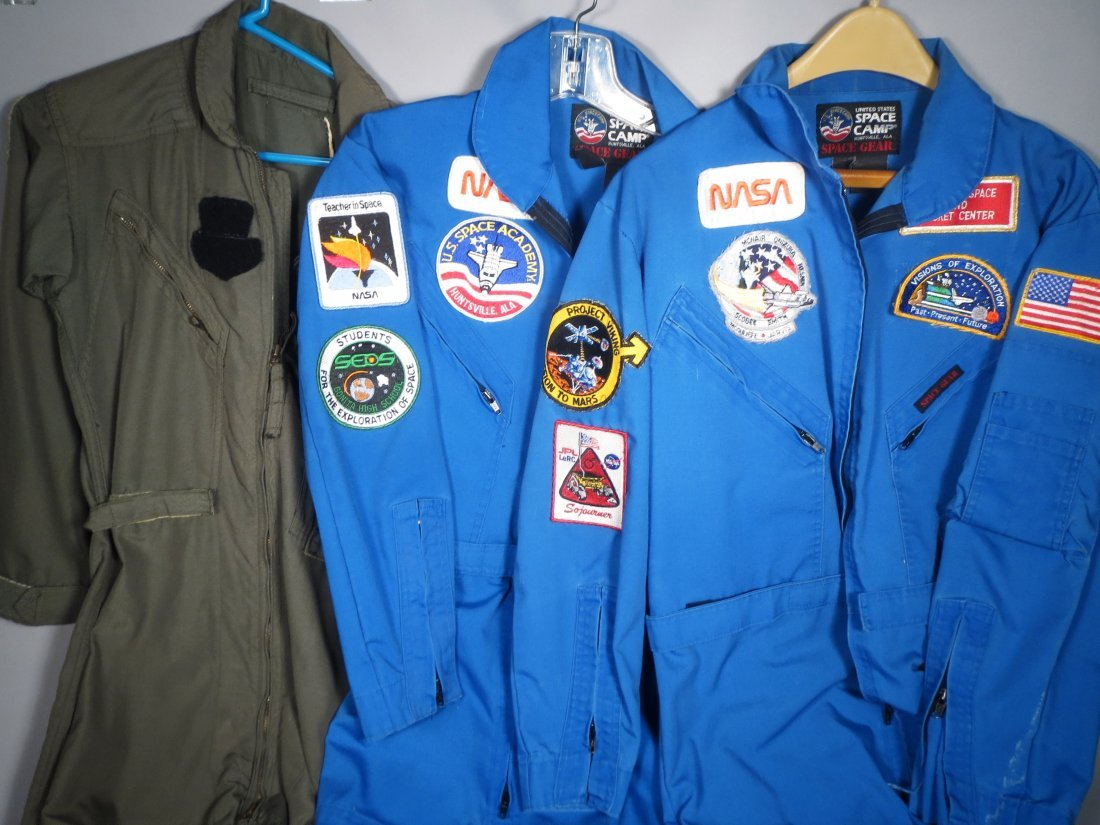 3 NASA Astronaut Jumpsuits w/ Patches + Space Food - 6