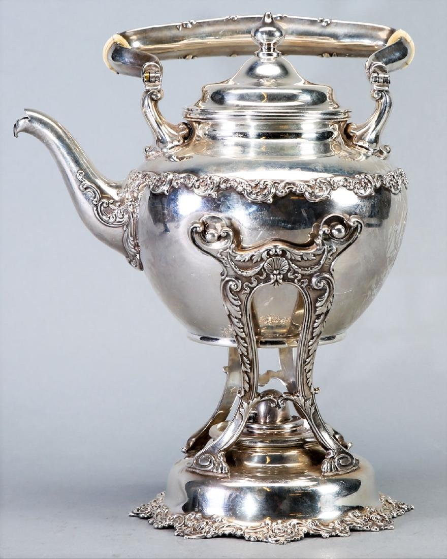 1899 Gorham Sterling Teapot with Warming Stand
