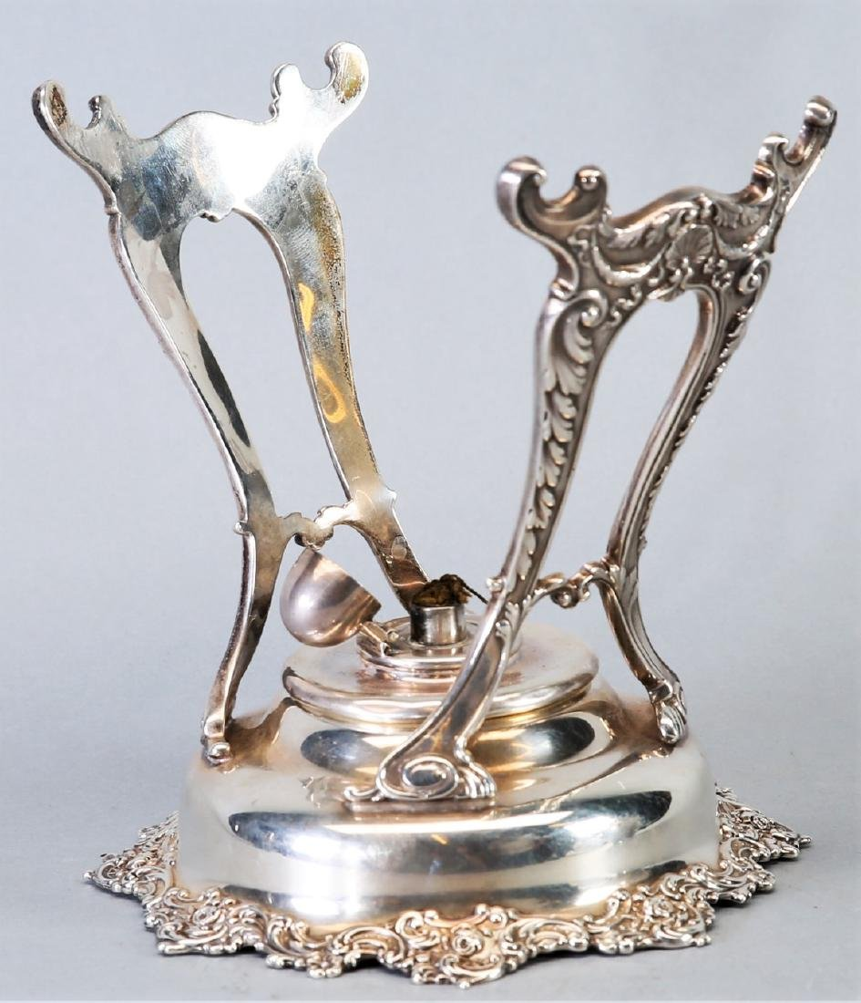 1899 Gorham Sterling Teapot with Warming Stand - 5