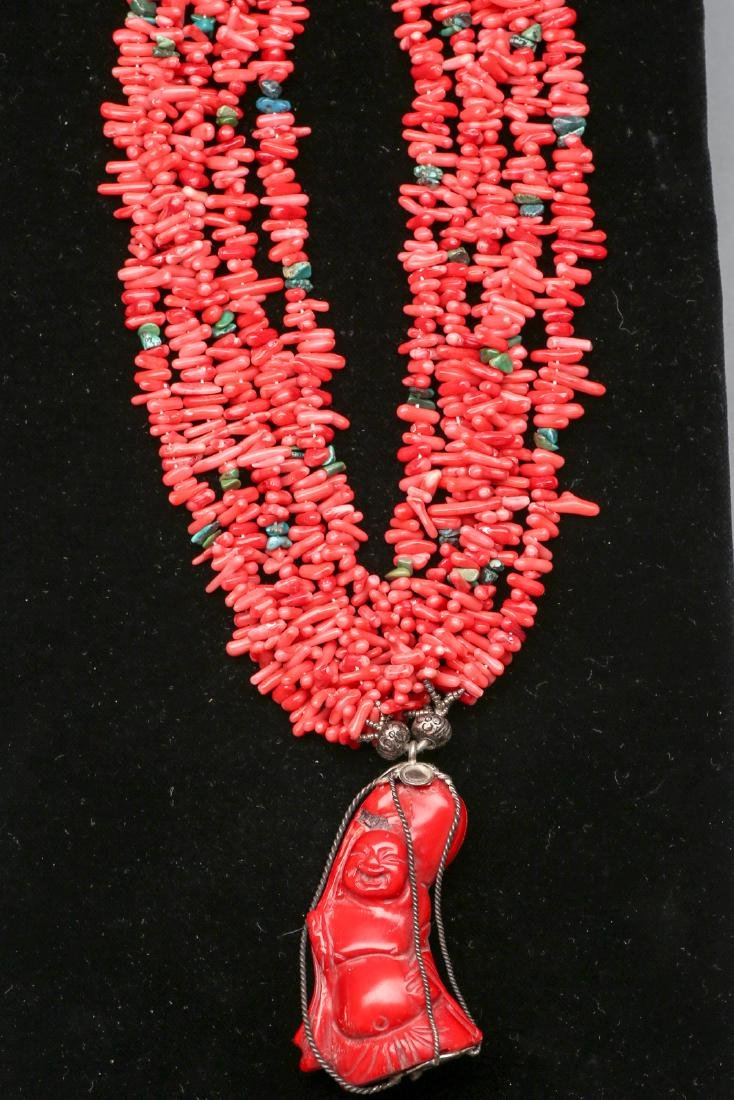 Vintage Carved Chinese Buddha Necklace