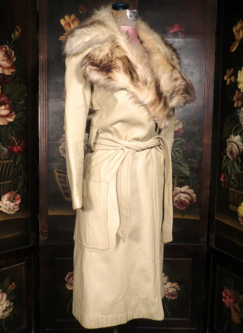 Vintage leather and Fur coat Saks 5th Ave