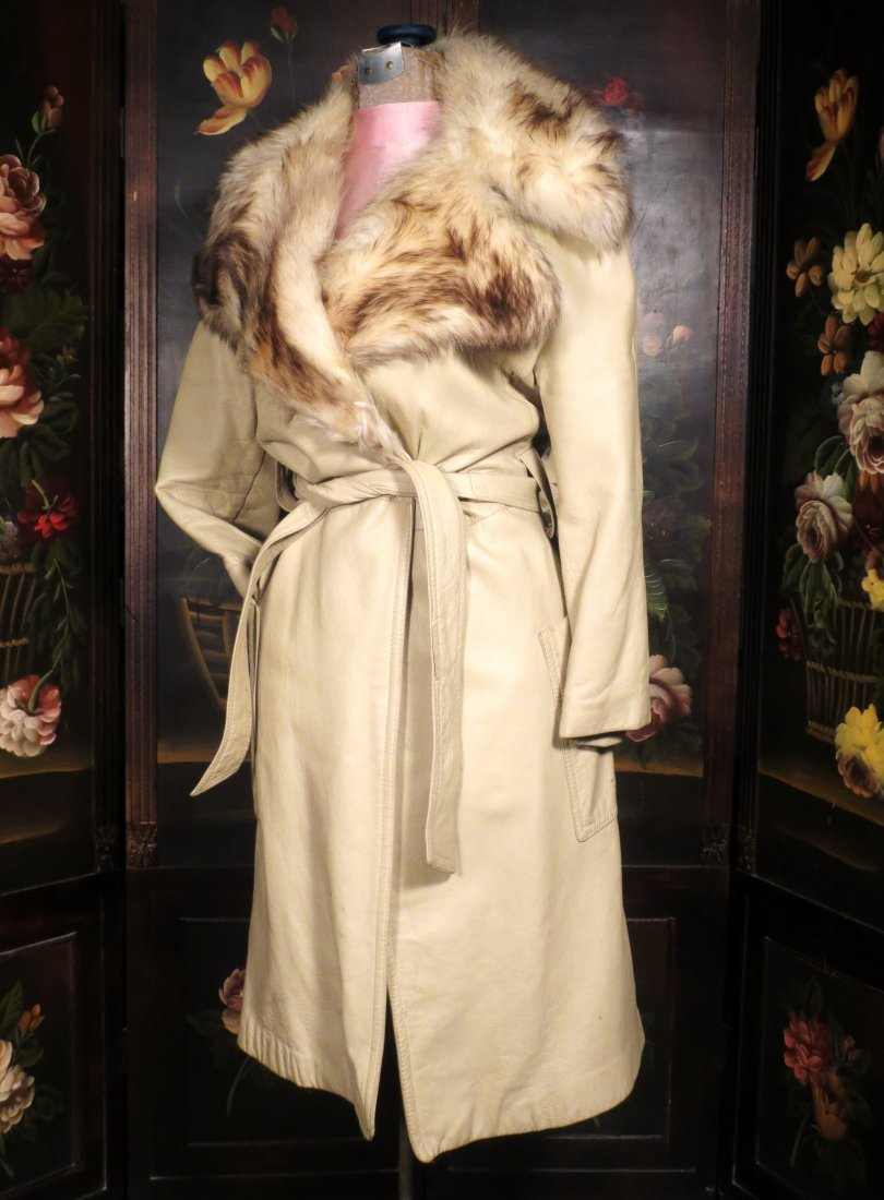 Vintage leather and Fur coat Saks 5th Ave - 5