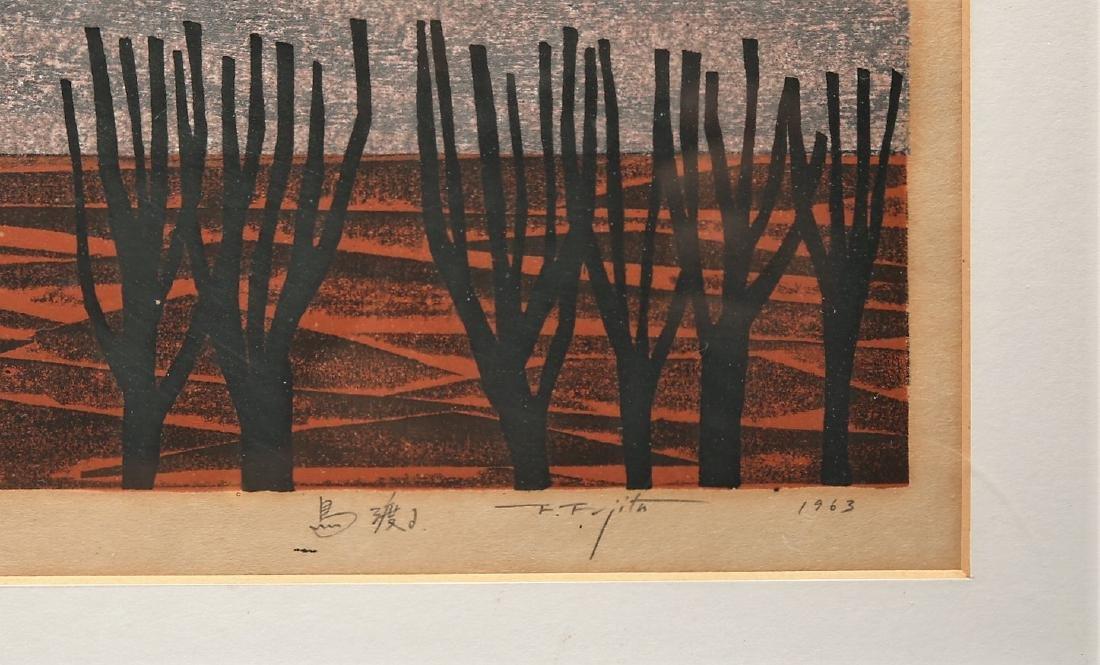 Fumio Fujita Japanese Modernist Woodblock Mid Century - 2