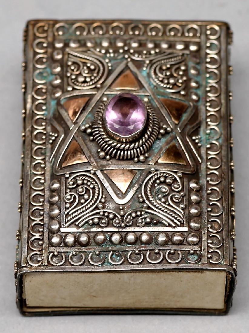 Antique Sterling/14K Gold Matchbox Holder