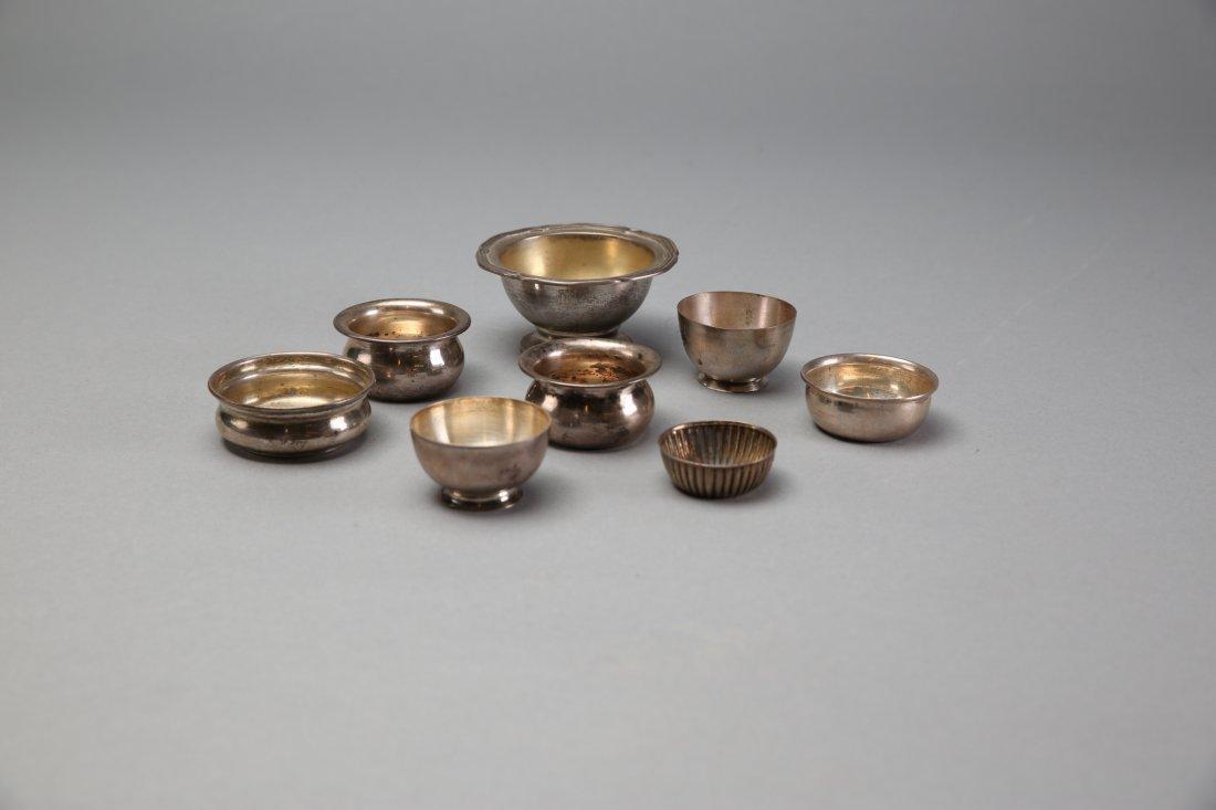 8 Sterling Silver Open Salts