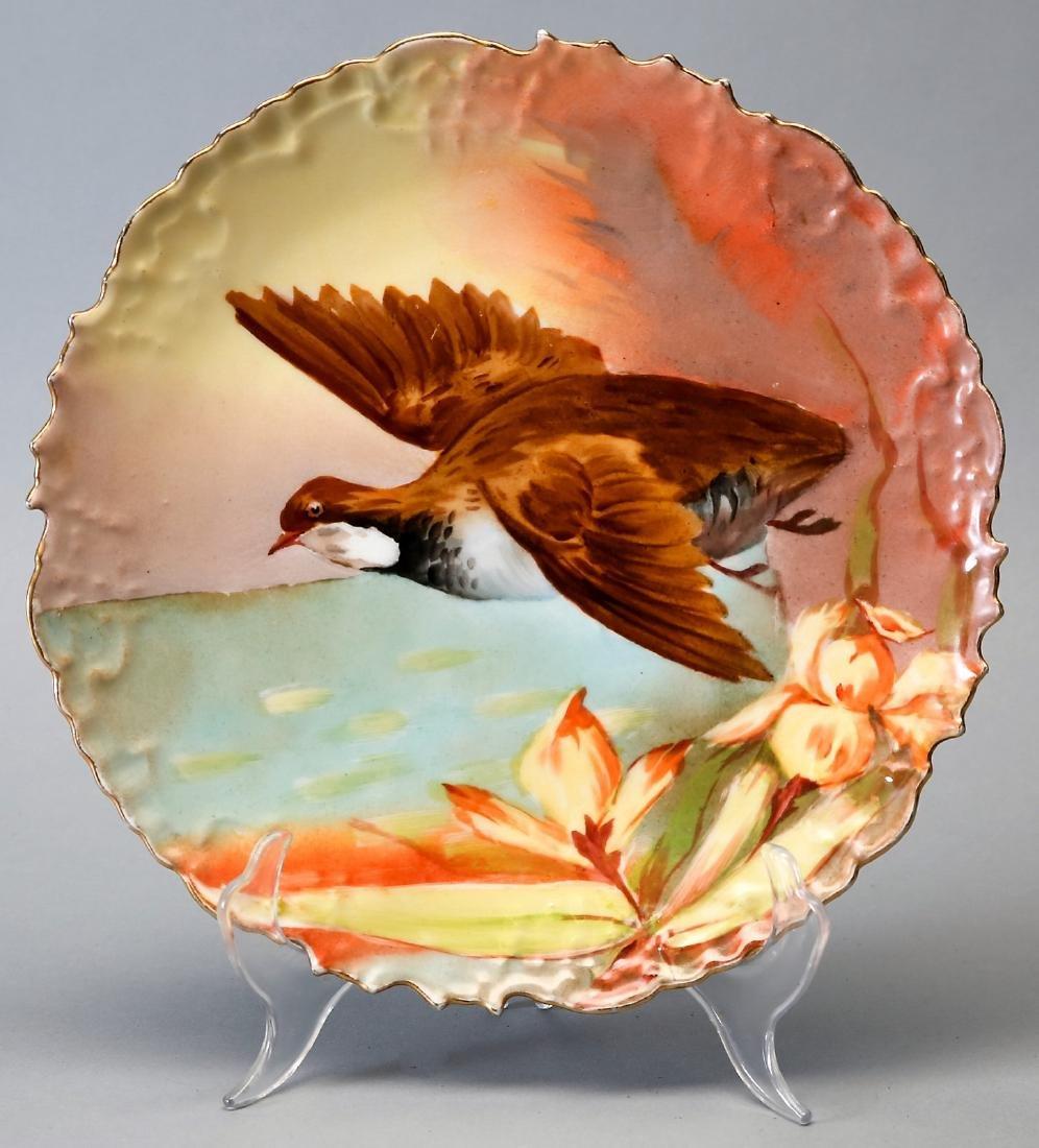 Antique B&H Limoges Game Bird Plate