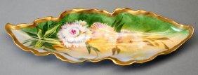 Antique B&H Limoges France Painted Dish, Signed
