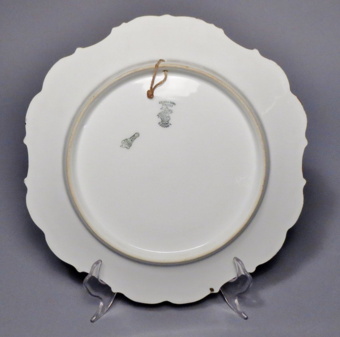 Limoges Game Bird Plate Signed Toh - 2