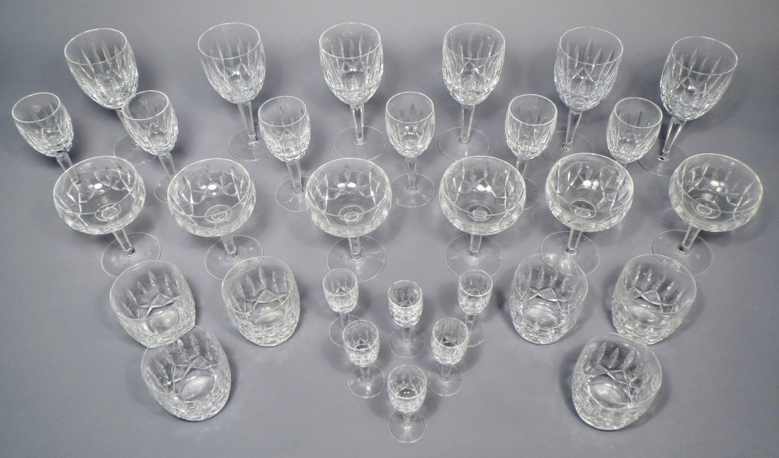 Lot of Waterford Kildare Crystal Stem Glasses