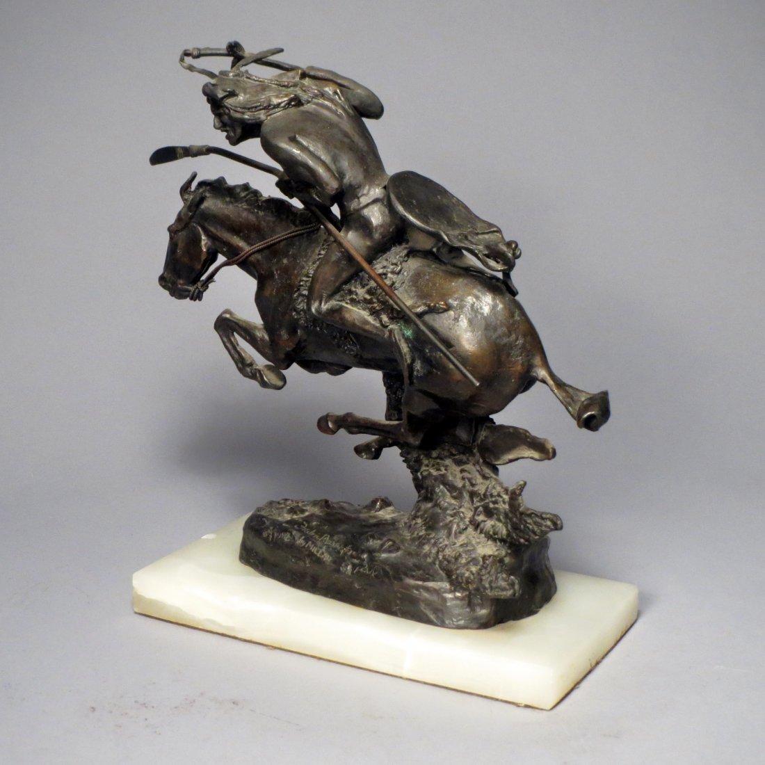 Pete Millar Bronze Homage to Remington: Cheyenne - 2
