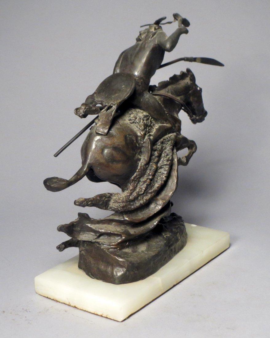 Pete Millar Bronze Homage to Remington: Cheyenne - 4