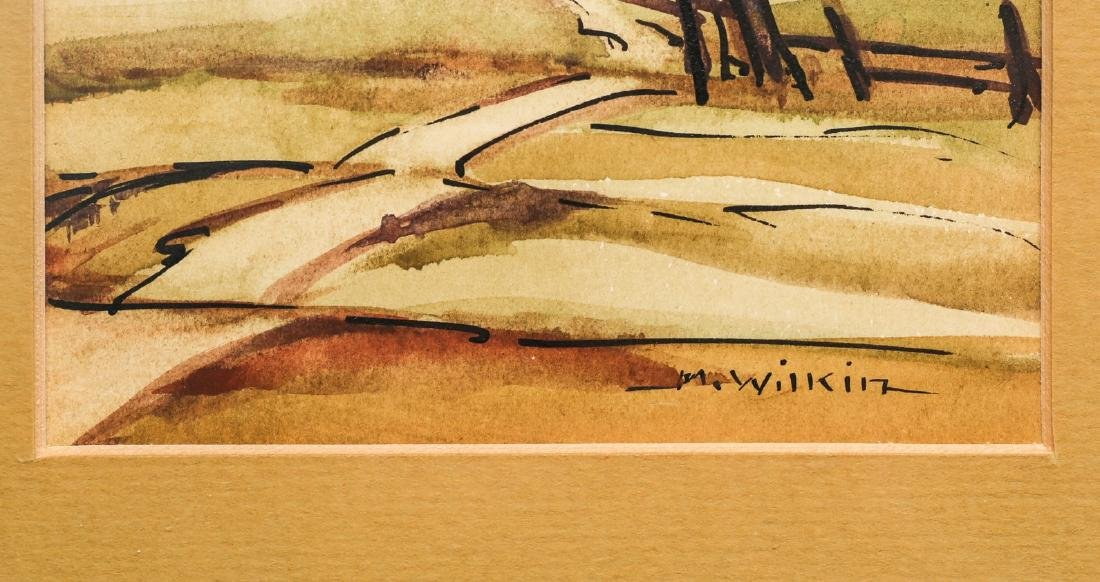 Mildred Wilkin Watercolor, Set of 4 Listed California - 3
