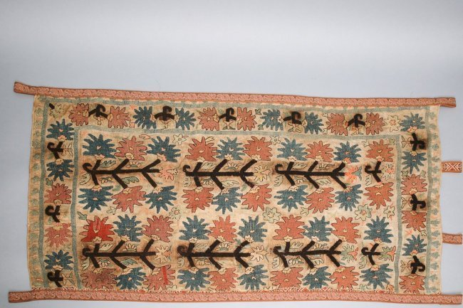 Antique Turkish Rug Fragment, Wall Hanging, Tapestry
