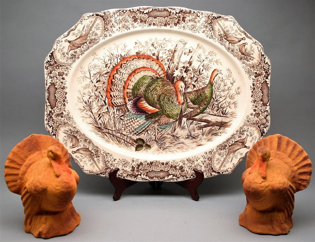 Johnson Brothers, Staffordshire Wild Turkey Platter