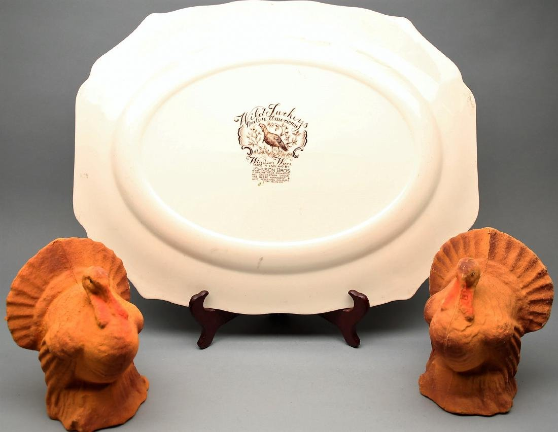 Johnson Brothers, Staffordshire Wild Turkey Platter - 2