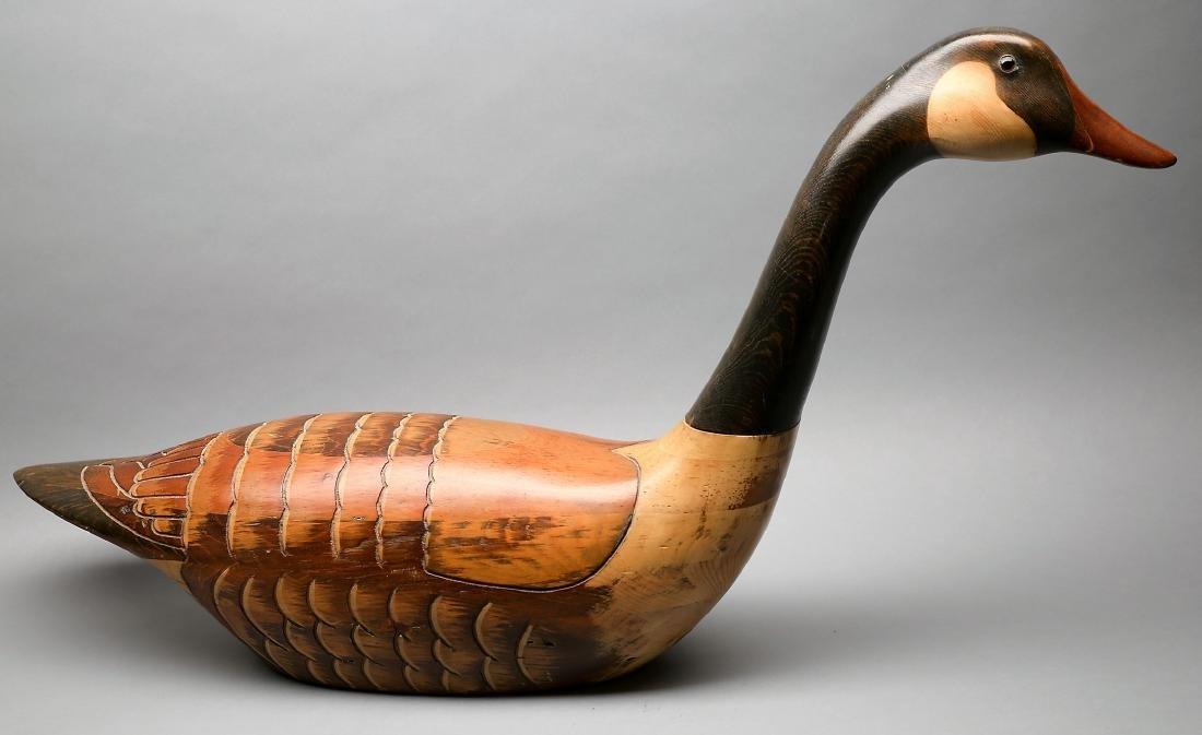 Vintage Hand Carved Goose by Tom Taber & Hersey Kyle Jr