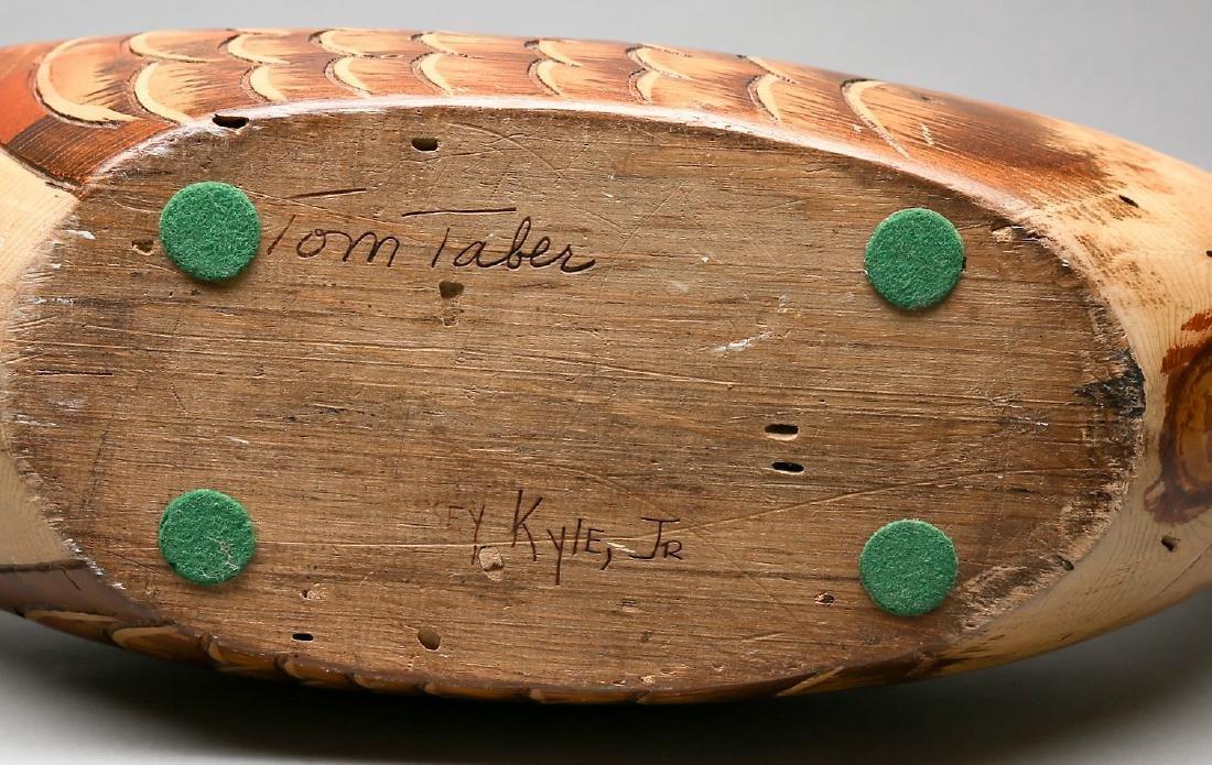 Vintage Hand Carved Goose by Tom Taber & Hersey Kyle Jr - 4
