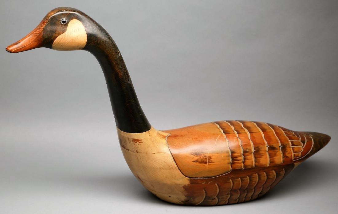 Vintage Hand Carved Goose by Tom Taber & Hersey Kyle Jr - 5