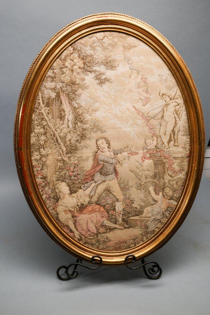 Antique Framed Victorian Tapestry