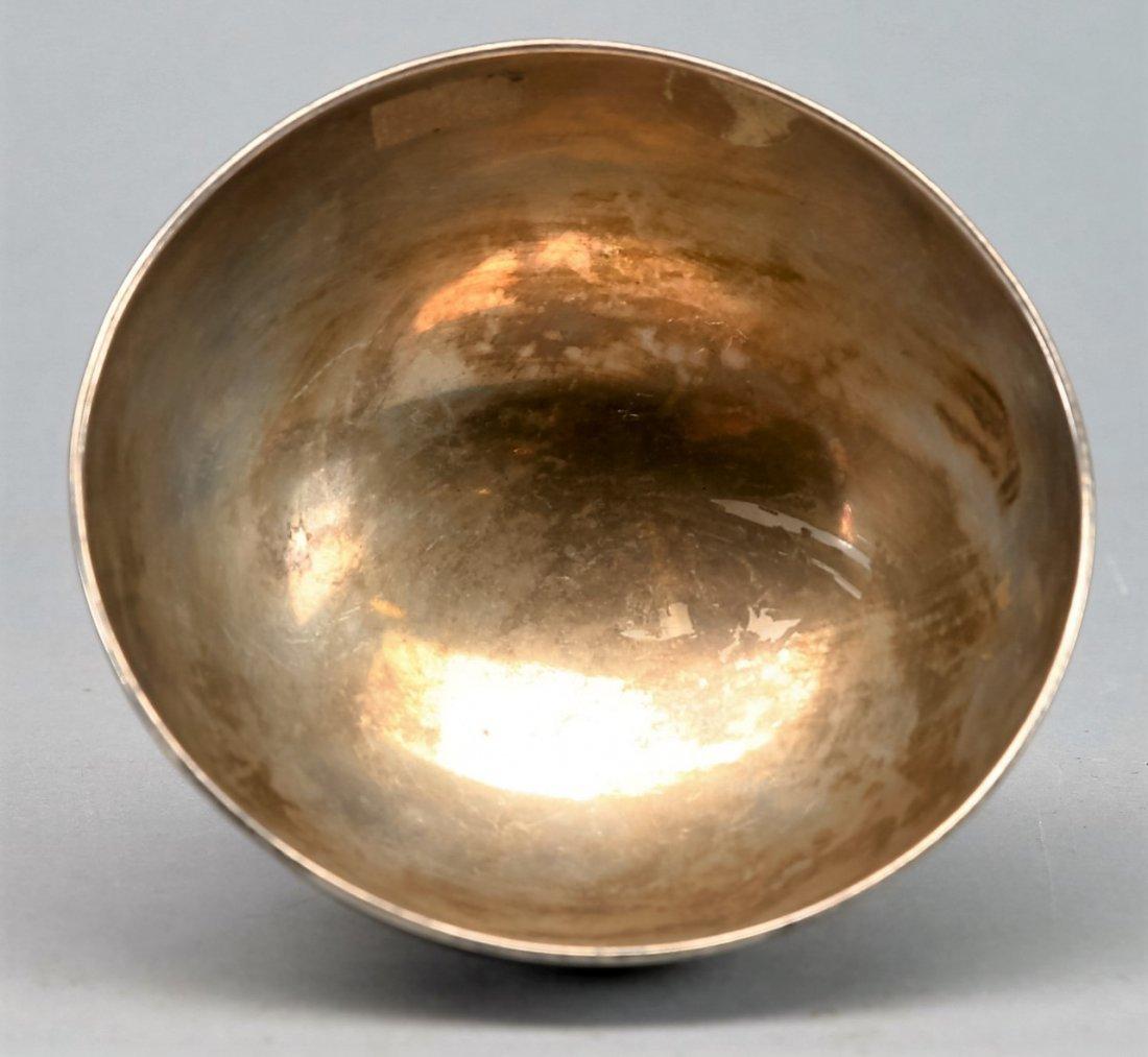 Vintage Riga Russia (Latvia) Bowl .875 Niello silver - 2