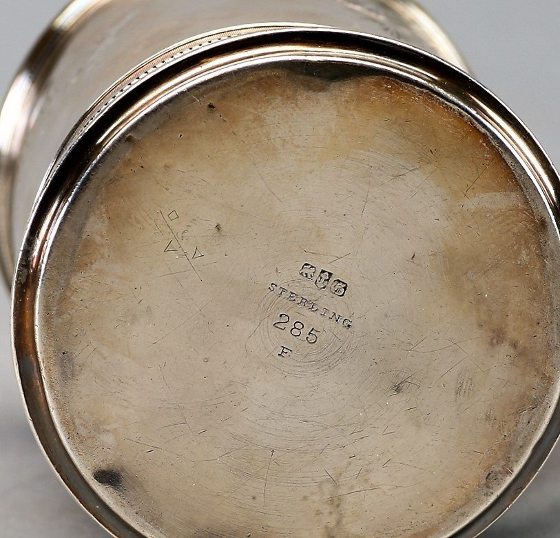 1873 Gorham Sterling Etched Cup - 3