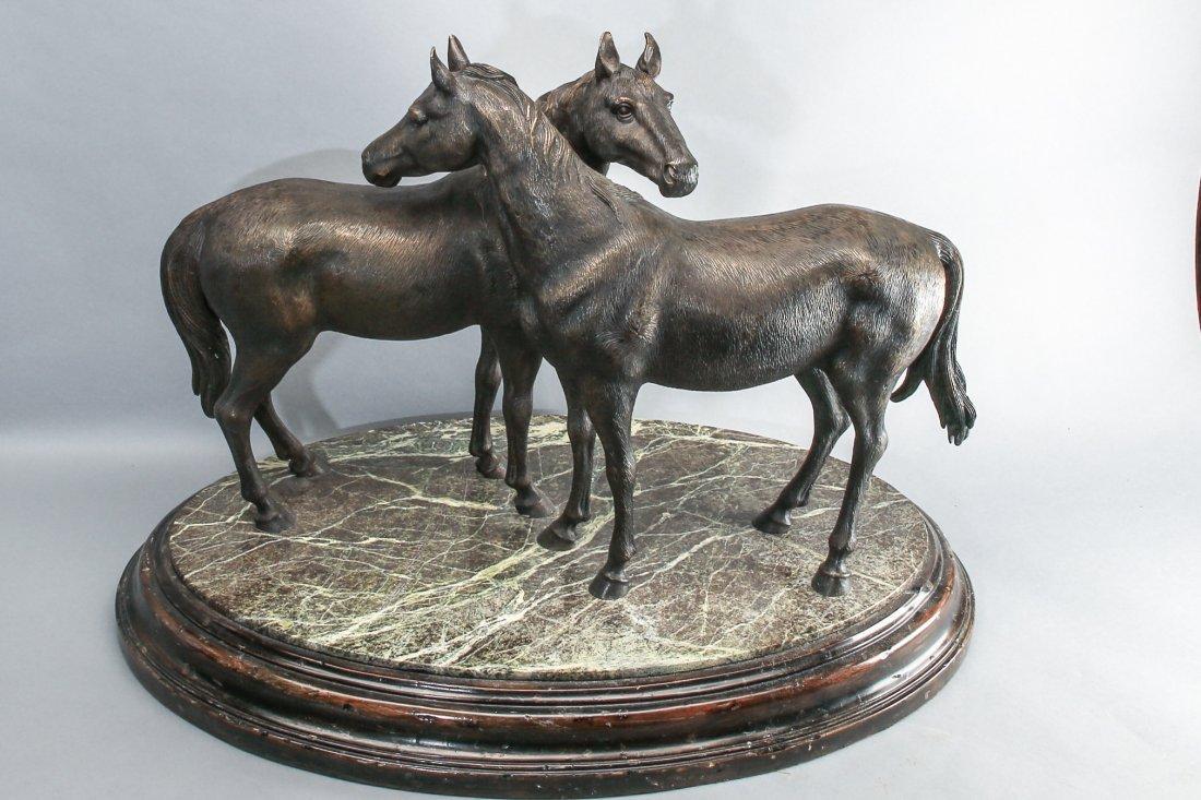 "Theodore Alexander ""Pierre's Pair"" Horse Statue - 7"