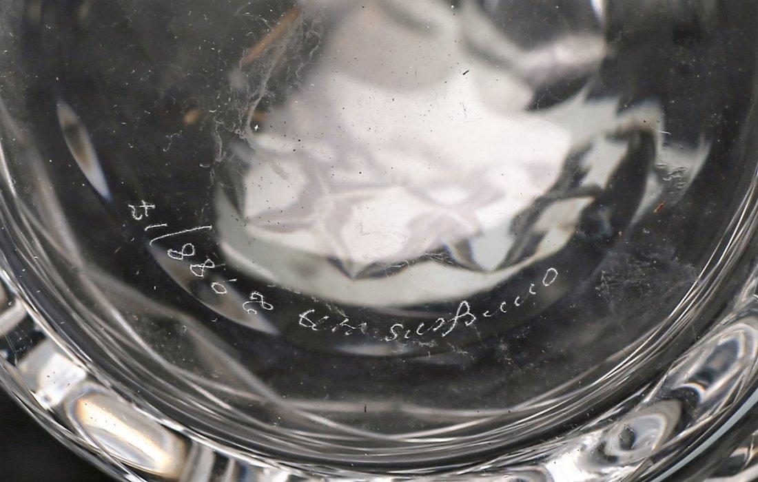 Vintage Orrefors Crystal Decanter Signed HA - 2