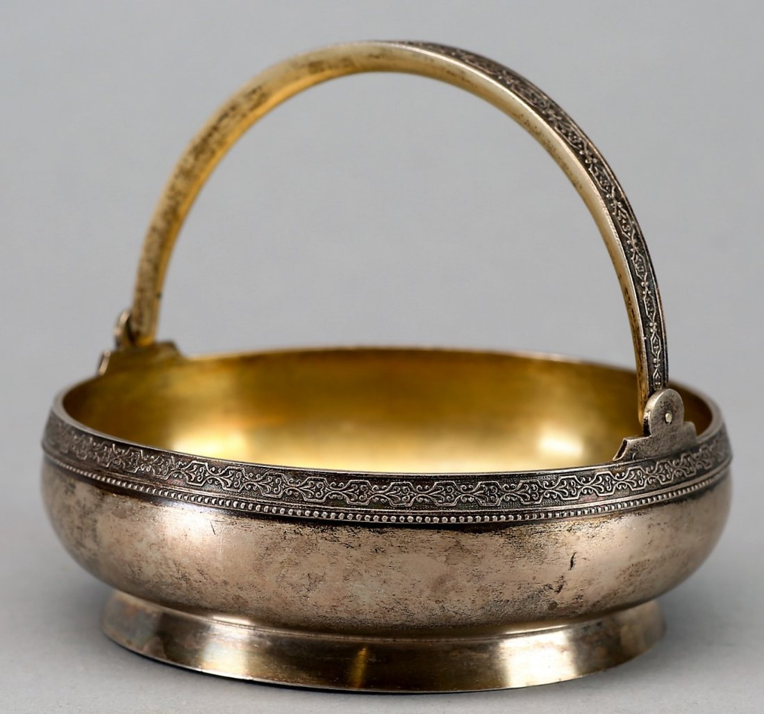 Vintage Riga Russia (Latvia) 875 Silver Handled Bowl