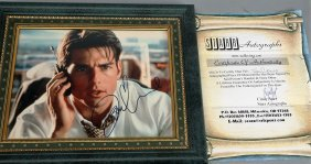 Tom Cruise Autographed Photo With COA