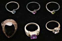 Misc Lot Sterling and 10K Gold Rings