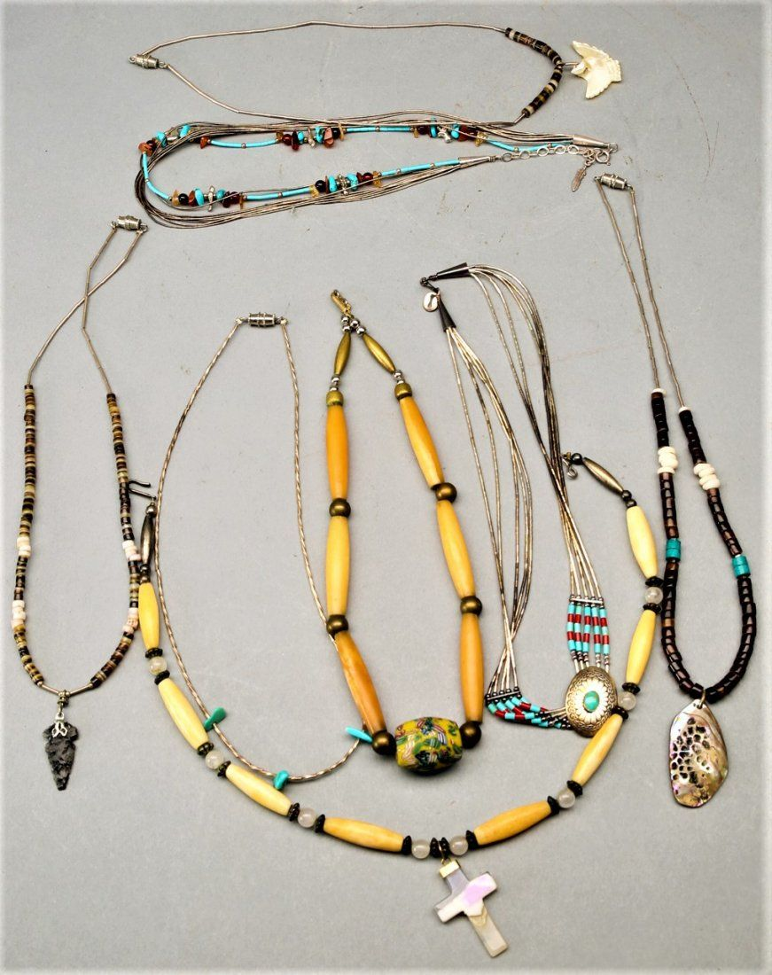 Vintage Native American Style Necklace Lot