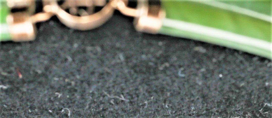 14k Gold Jade Bracelet - 3