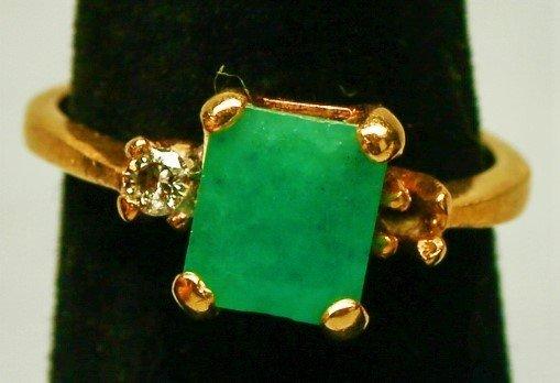 14k Gold & Emerald Ring.