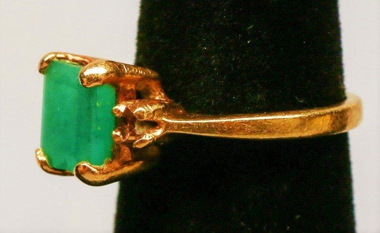 14k Gold & Emerald Ring. - 2