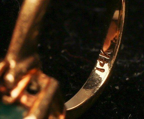 14k Gold & Emerald Ring. - 4