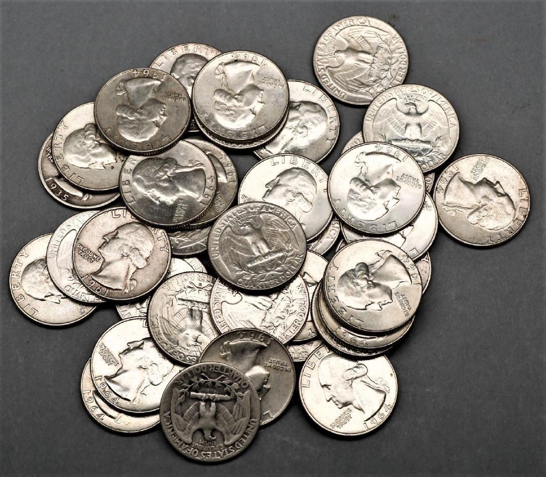 Lot of 36 1964 Quarters