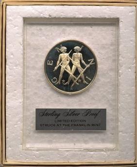 Sterling Silver Proof, Franklin Mint Zodiac Gemini