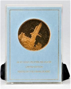 24KT Gold on Sterling Space Commemorative Medal
