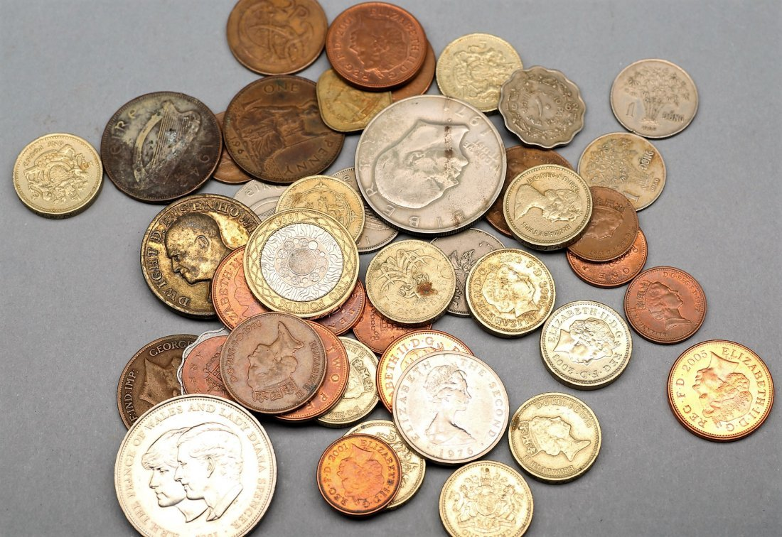 Misc Lot Of World Coins, Some Silver