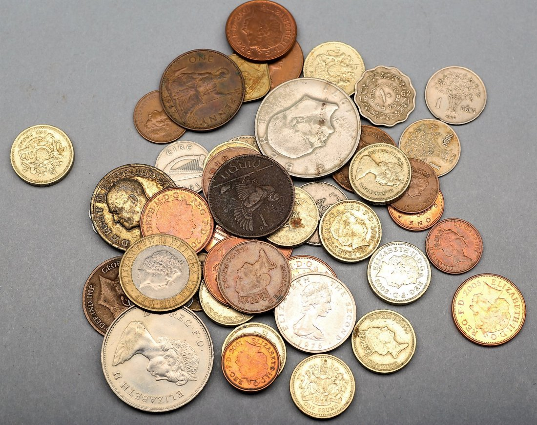 Misc Lot Of World Coins, Some Silver - 2