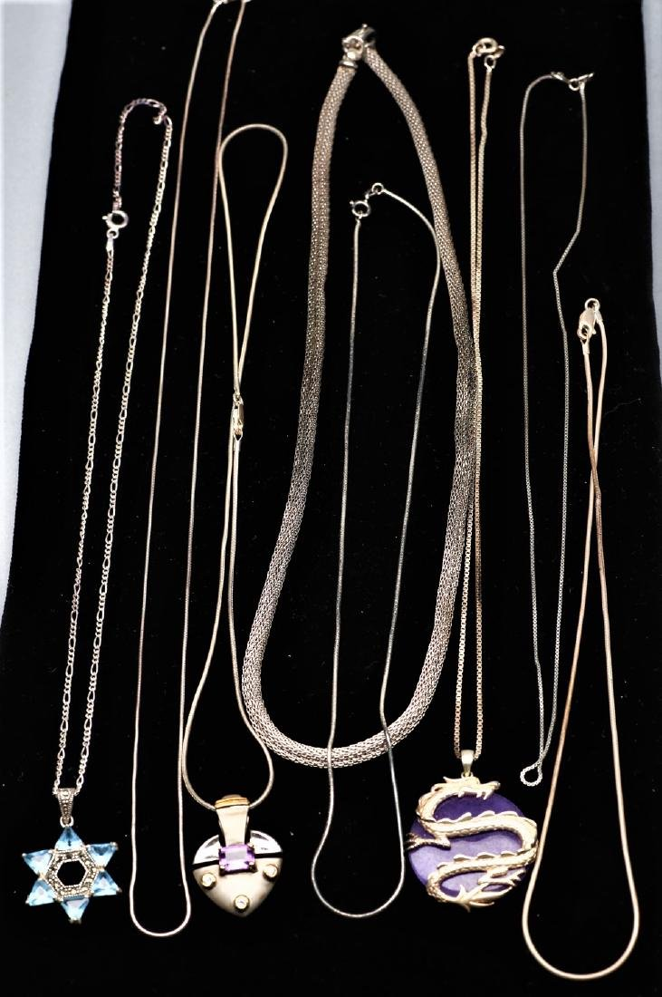 Box lot Sterling Silver Necklaces - 3