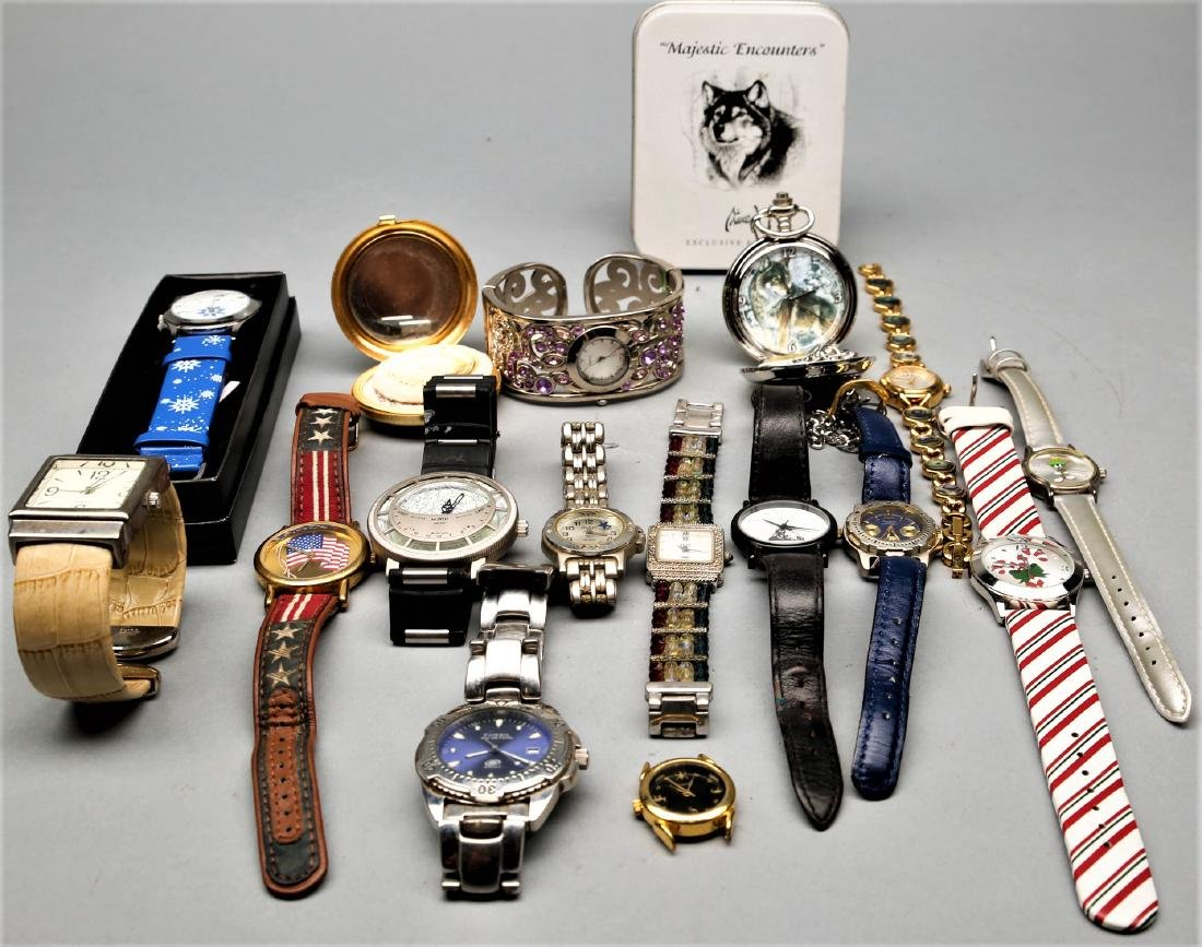 Box lot of watches