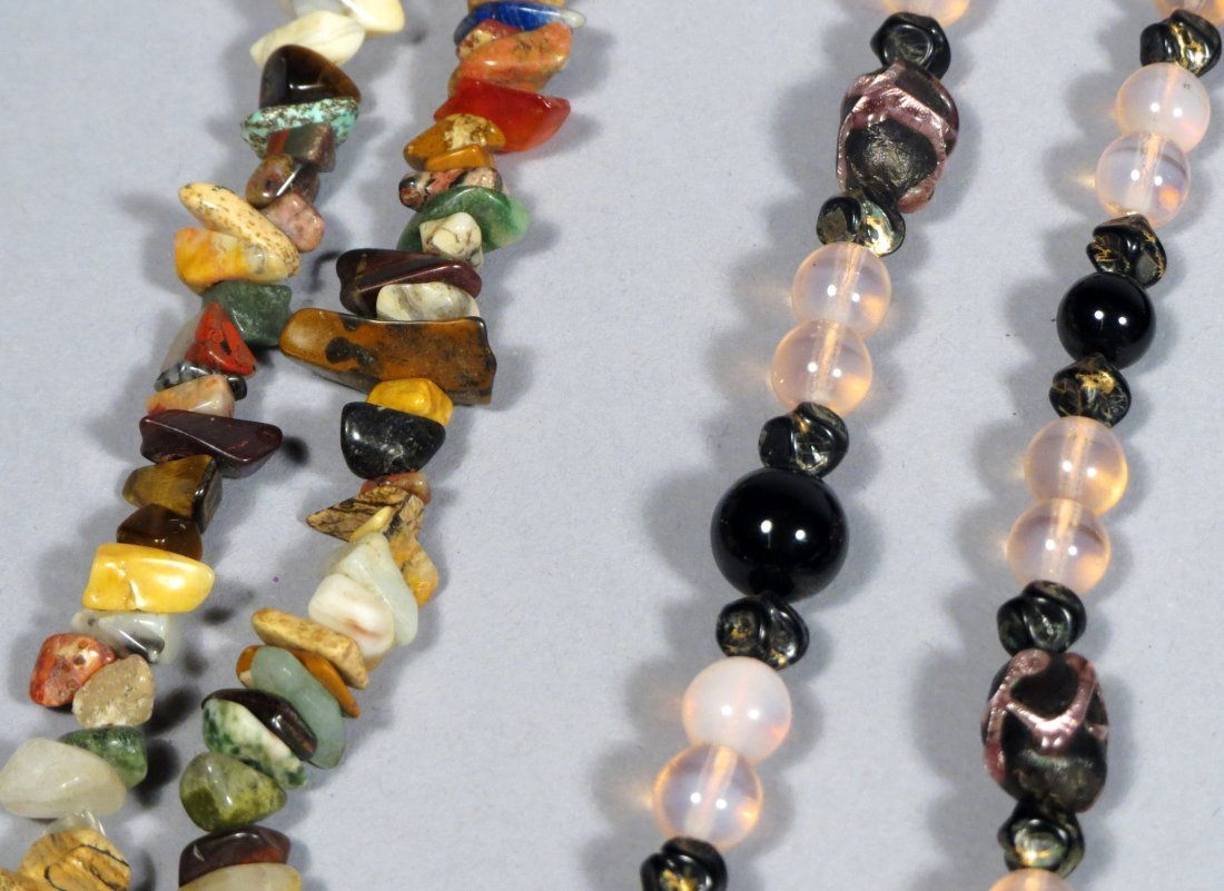 Box of Natural Stone Necklace Jewlery - 10