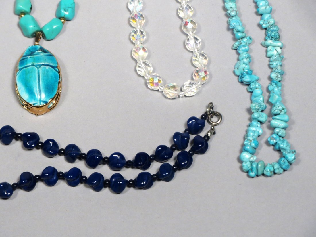 Jade, Turquoise, Lapis Necklace lot - 5