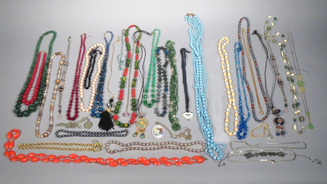 Very Large Box Lot of Necklaces and Bracelets